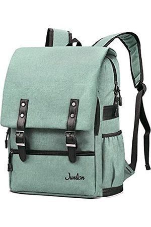 Junlion Einfarbig Laptop Rucksack für Studenten Lässiger Rucksack Canvas Reisetasche für Adrett Frau und Mann