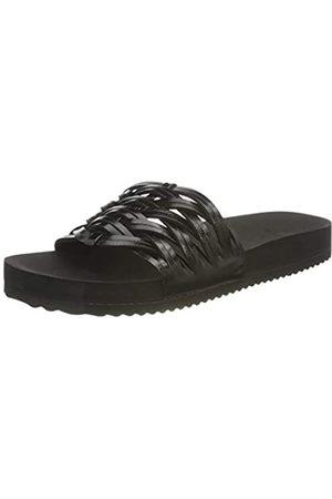 flip*flop Damen Pool Braid Sandalen, Black/metallic Black
