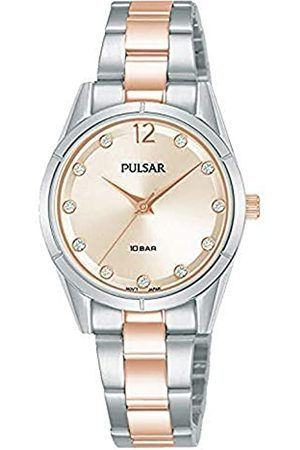 Pulsar Damen Analog Quarz Uhr mit Edelstahl Armband PH8505X1