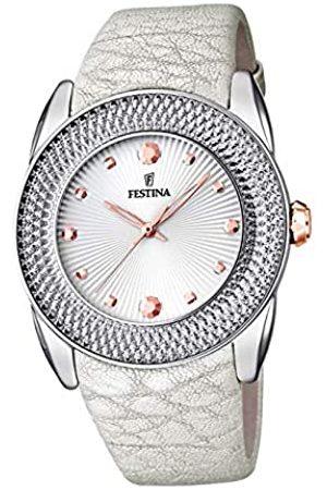 Festina Damen Analog Quarz Uhr mit Leder Armband F16591/A