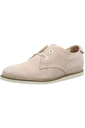 Hub Damen Sneaky T Waxed Suede Derby, Pink (Soft Rose/wht 067)