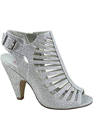 Generic FZ-Shaky-s Damen Sexy Riemchen Peep Toe Slingback Schnalle Chunky Heel Sandalen Schuhe, ( /Schimmer)