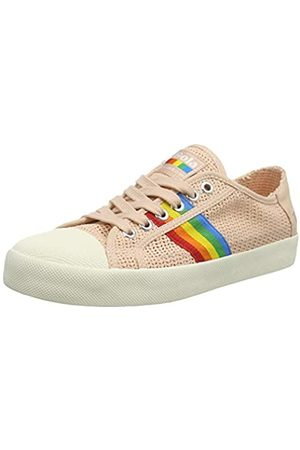 Gola Damen Coaster Rainbow Weave Sneaker, Off White/Multi