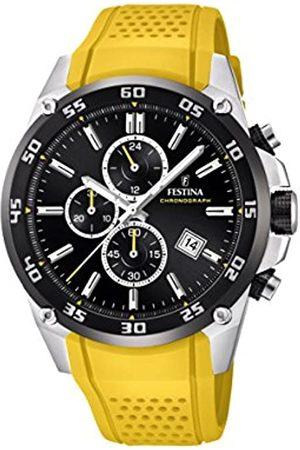 Festina Unisex Erwachsene Chronograph Quarz Uhr mit Leder Armband F20330/3
