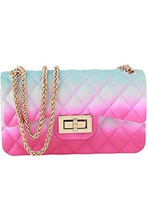 IOOI Gelgelgelgel-Geldbörse, , matt, Crossbody-Tasche für Frauen und Mädchen, Blau ( B)