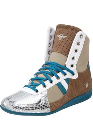 Creative Recreation Damen Galow Hi Fashion Sneaker, Braun (Sepia/Metallic /Khaki/Koralle)