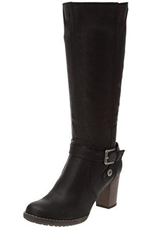 TOM TAILOR Damenschuhe, Damen Langschaft Stiefel, (black)