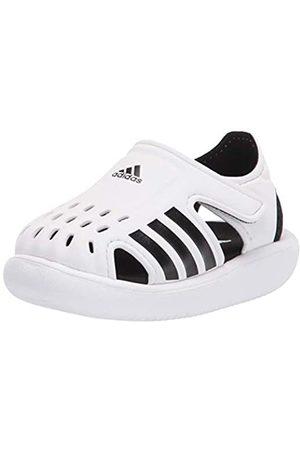 adidas Kids Water Slide Sandal, White/Black/White