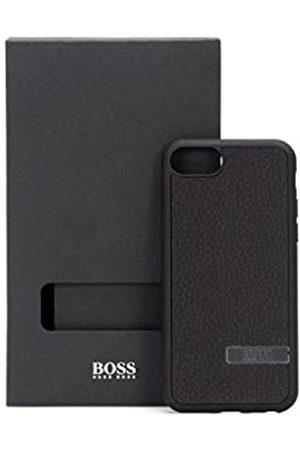 HUGO BOSS Herren pcover iPhone-Hülle aus italienischem Leder mit metallener Logo-Applikation