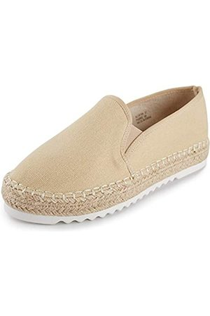 ALEXIS Damen Espadrilles mit geschlossenem Zehenbereich, flache Schuhe, (aprikose)