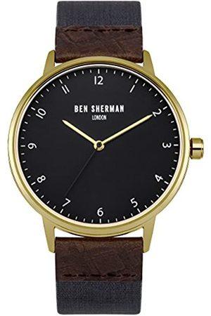 Ben Sherman Herren Uhren - Herren Armbanduhr mitem Zifferblatt Analog-Anzeige und Stoff blau Gurt wb049ug