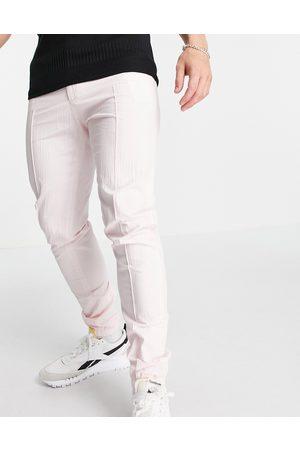 ASOS – Elegante Hose mit engem Schnitt und sportlichen Bündchen aus Seersucker