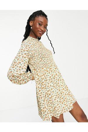 Daisy Street Damen Freizeitkleider - – Kurzes Hängerkleid mit Blümchenmuster