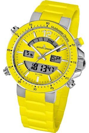 Jacques Lemans Unisex-Armbanduhr Milano Analog - Digital Silikon 1-1712E