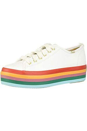 Keds Damen Triple UP Rainbow Foxing Sneaker, White