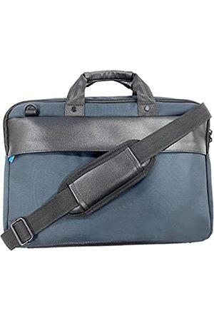Generic Laptoptasche 38,4 cm (15,1 Zoll), Business-Aktentasche für Damen und Herren, wasserabweisend, Kuriertasche mit Gurt, robuste Tasche für Computer/Notebook/MacBook, (marineblau)