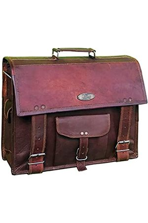 CREATIVE LEATHER ART Handgefertigte Umhängetasche aus Leder für Herren und Herren, 38,1 cm (15 Zoll) Laptop, Computer