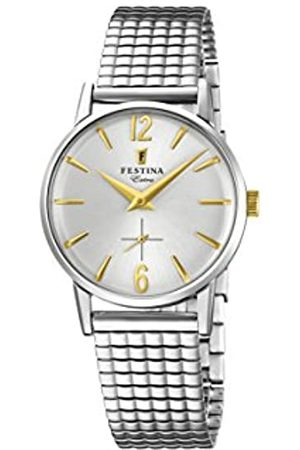 Festina Damen Analog Quarz Uhr mit Edelstahl Armband F20256/2