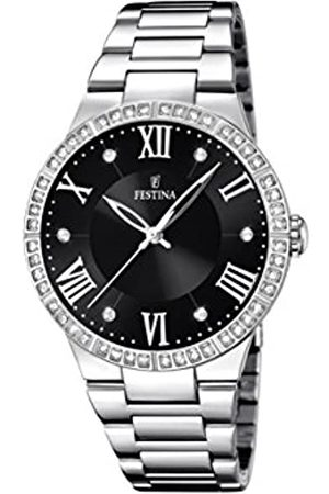 Festina Damen Analog Quarz Uhr mit Edelstahl Armband F16719/2