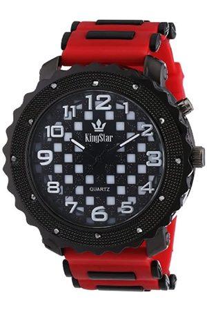 Kingstar King Star Herren-Armbanduhr XL Analog Quarz Verschiedene Materialien 251671100003