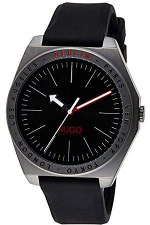 HUGO BOSS Unisex-Erwachsene Analog Quarz Uhr mit Silikon Armband 1530104
