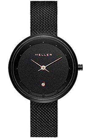 Meller Unisex Erwachsene Analog Quarz Uhr mit Edelstahl Armband W5RN-2ROSE