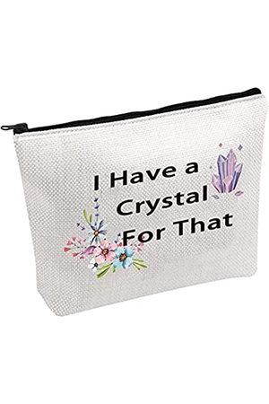 Generic Kristall-Liebhabergeschenk Kristall Make-up-Tasche I Have a Crystal For That Witch Make-up-Tasche Hexcraft Tasche