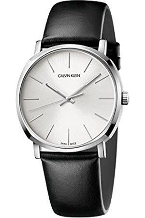 Calvin Klein Herren Analog Quarz Uhr mit Leder Armband K8Q311C6