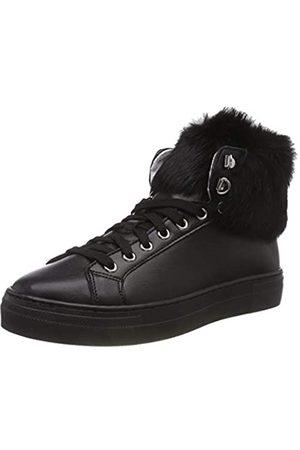 Pollini Damen Pon Fur Hohe Sneaker, (Black/Steel 00A)