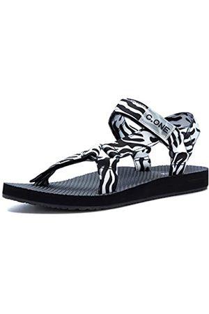 CHOOSEONE Outdoor Sport Sandalen für Damen 2021 Sommer Open Toe Strap Sandal Anti-Rutsch Walking Wasser Schuhe Bequeme Indoor Athletic Sandalen für Strand, (zebra)