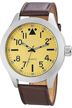 Excellanc Herren-Armbanduhr XL Analog Quarz Verschiedene Materialien 295027500171