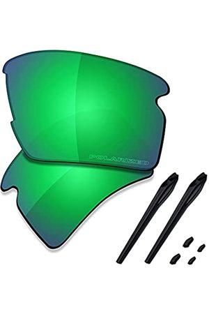 Saucer Premium Ersatzgläser & Gummikits für Oakley Flak 2.0 XL OO9188 Sonnenbrille, (High Defense – Jadegrün polarisiert)