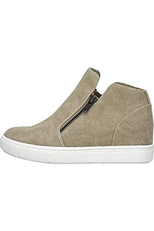 CUSHIONAIRE Hart Damen Sneaker mit verstecktem Keilabsatz und breiter Weite erhältlich, Braun (Sand-Canvas)