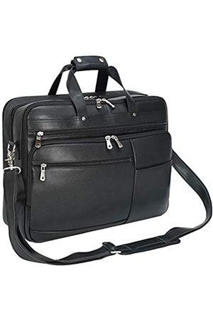Texbo Große Leder-Aktentasche für Herren, 45,7 cm (18 Zoll), Vollnarbenleder, Laptoptasche, Kuriertasche, passend für 17