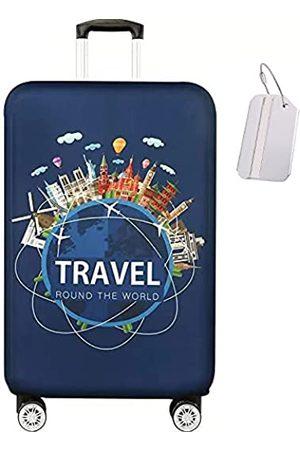 TOTATNON Reisetaschen - Gepäckabdeckung Reisekofferschutz waschbar staubdicht kratzfest Gepäckabdeckung mit Kofferanhänger