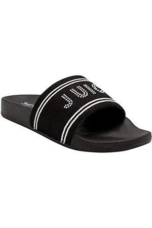 Juicy Couture Slide Sandalen, Strandsandalen für Damen, Flip Flops Sandalen, Pool Slides Schuhe, (Black Sport)