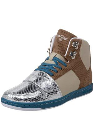 Creative Recreation Cesario Damen-Sneaker mit hohem Schaft, Braun (Sepia/Metallic /Khaki/Koralle)
