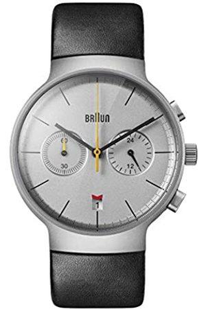 Braun Herren Uhren - Herren Analog Quarz Uhr mit Leder Armband BN0265SLBKG