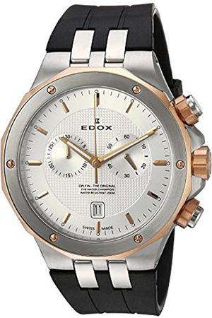 Edox Herren Uhren - Herren Analog Quarz Uhr mit Gummi Armband 10110 357RCA AIR