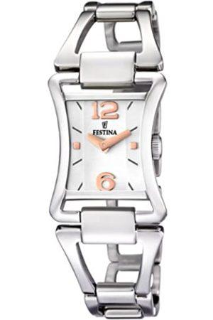Festina Damen-Armbanduhr XS Analog Quarz Edelstahl F16596/2