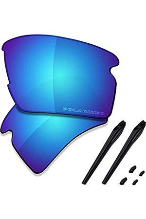 Saucer Premium Ersatzgläser & Gummikits für Oakley Flak 2.0 XL OO9188 Sonnenbrille, (High Definition - Gletscherblau polarisiert)