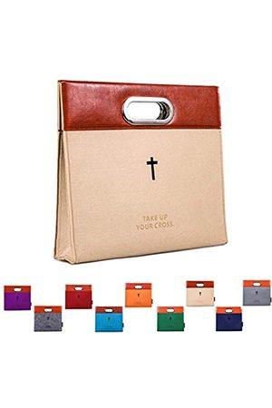 AGAPASS Bibel-Tragetasche, Handtasche, Filz-Bibelüberzug für Damen und Herren, Bibel-Tragetasche, mit Reißverschluss