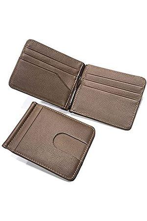 AFKOMST Minimalistisches Kreditkartenetui für Herren, schlankes RFID-blockierendes Echtleder, Vordertasche
