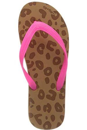 flip*flop Damen Originals Animal Luxe Zehentrenner, Toast/neon pink