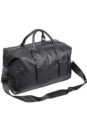 seyfocnia Übergroße Reisetasche, wasserdicht, Leder, Wochenendtasche, groß, Handgepäck