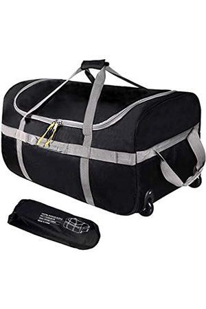 REDCAMP Faltbare Reisetasche mit Rädern, 120 l, 76,2 cm, 1680D Oxford, faltbar, extra groß, mit Rollen für Camping und Reisen