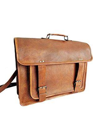 Handmadeleathercraft Aktentasche aus Leder für Damen und Herren