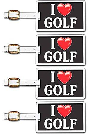 Tag Crazy I Heart Golf Four Pack