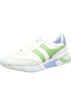 Gola Damen Eclipse California Sneaker, White/Patina Green/Vista Blue