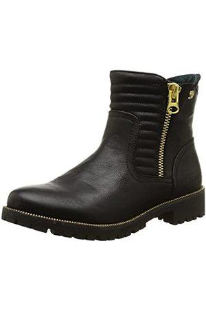 TOM TAILOR Damen Damenschuhe Biker Boots, (Black)